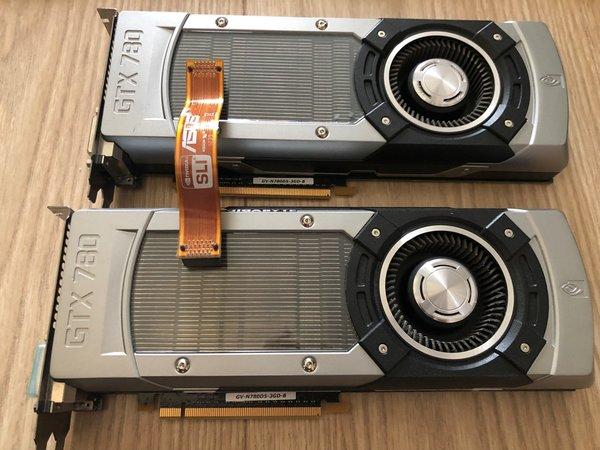 [S] Dwie karty GTX 780 Gigabyte + mostek SLI