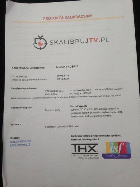 [S] TV 65nu8042 Skalibrowany Full Opcja