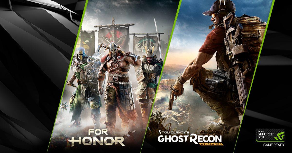 Gra For Honor lub Ghost Recon Wildlands za darmo z kartami graficznymi NVIDIA GeForce GTX