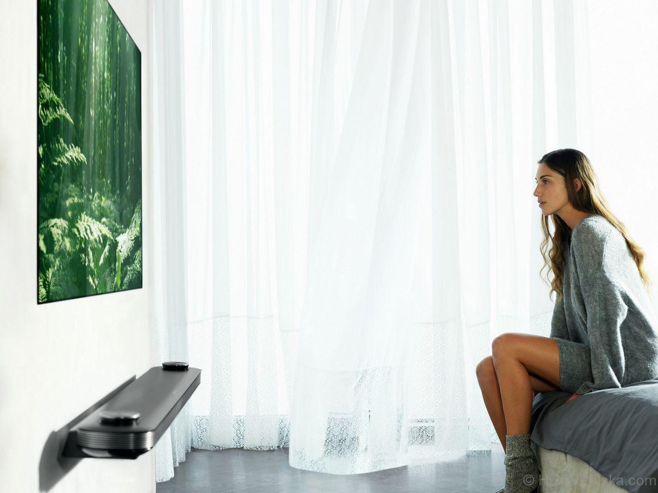 LG OLED65W7 TEST giętkiego ekranu OLED (telewizor – tapeta) Ultra HD, HDR, Dolby Vision