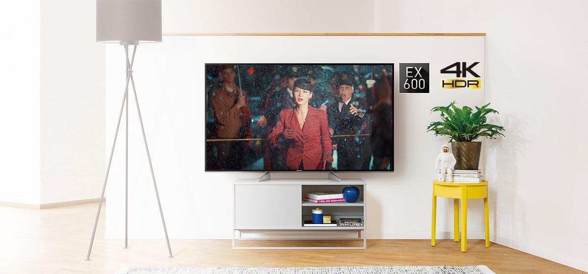 Panasonic EX600 (TX-65EX600e) TEST niedrogiego TV Ultra HD (2017) z HDR