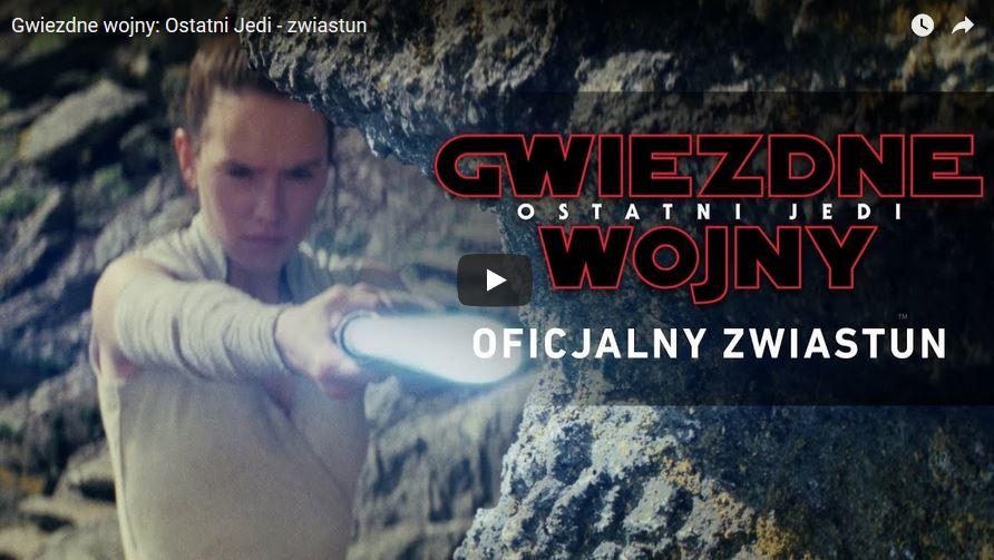 Najnowszy trailer Gwiezdne Wojny: Ostatni Jedi!