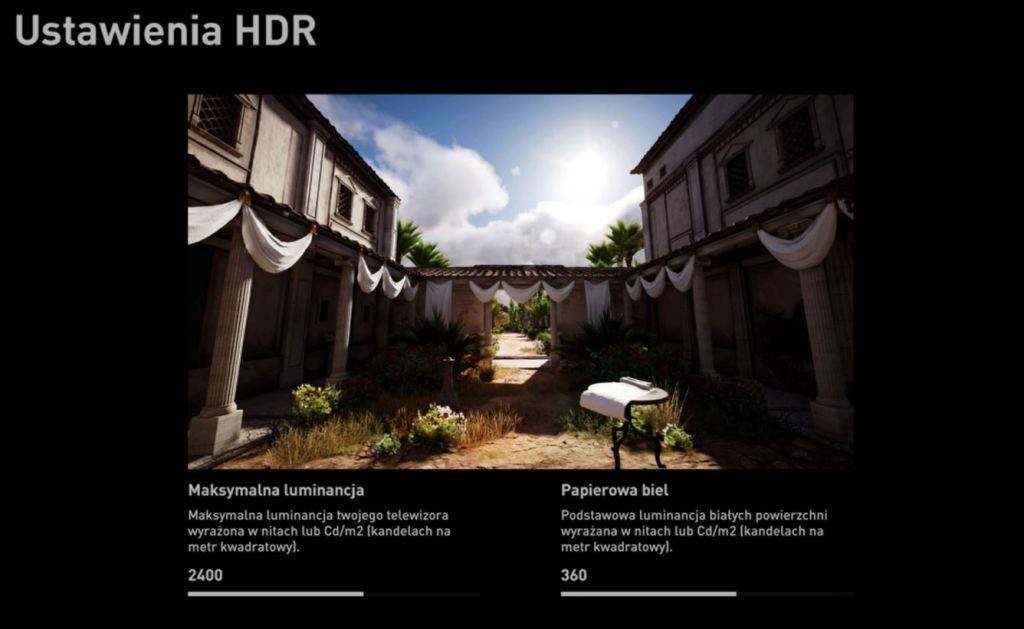 Assassins Creed Origins ustawienia hdr