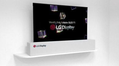 LG OLED zwijany