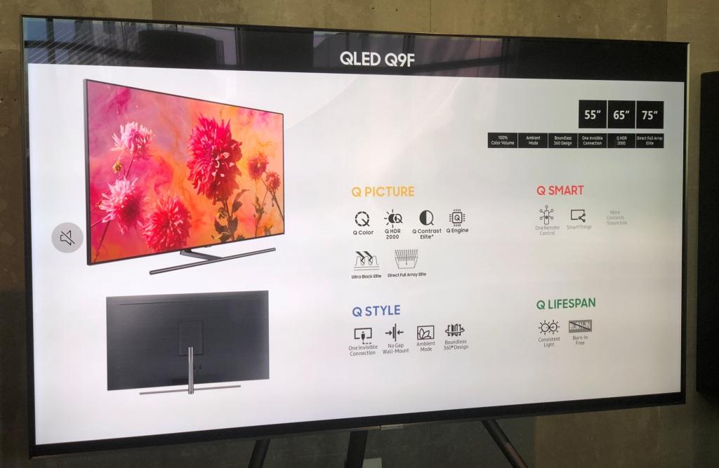 Telewizor Samsung QLED Q9 2018 wystepuje w trzech wariantach: QE75Q9FN, QE65Q9FN i QE55Q9FN
