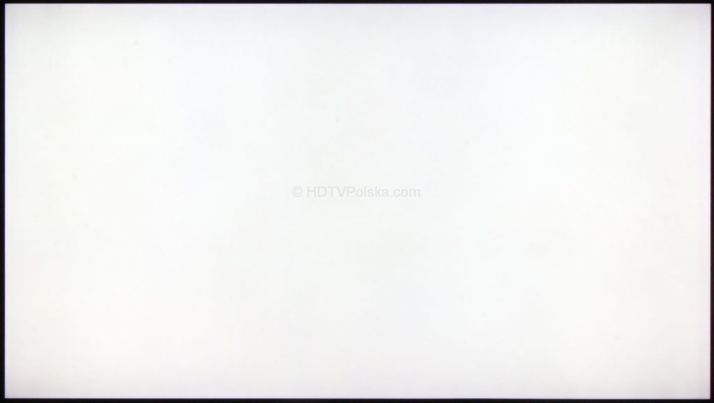 Samsung QLED Q9 QE55Q9FN - równomierność matrycy