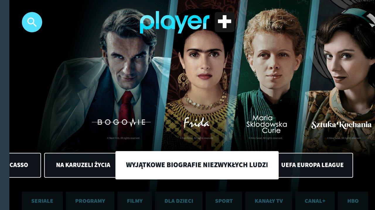 Nowa dedykowana aplikacja Player na Android TV™