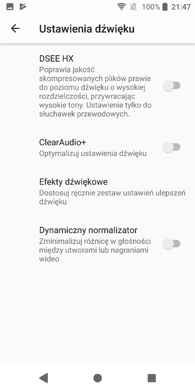 Sony Xperia XZ2 Hi-Res audio test