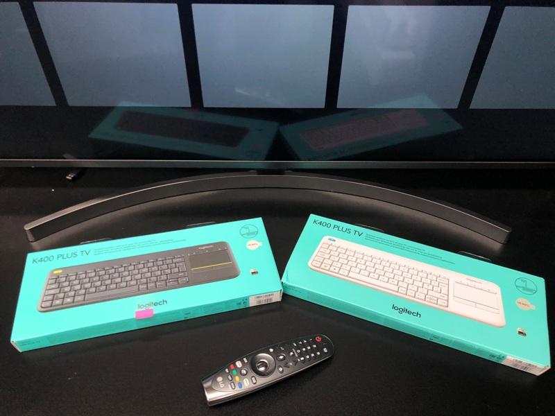 Klawiatura Logitech K400 Plus TV test LG webOS