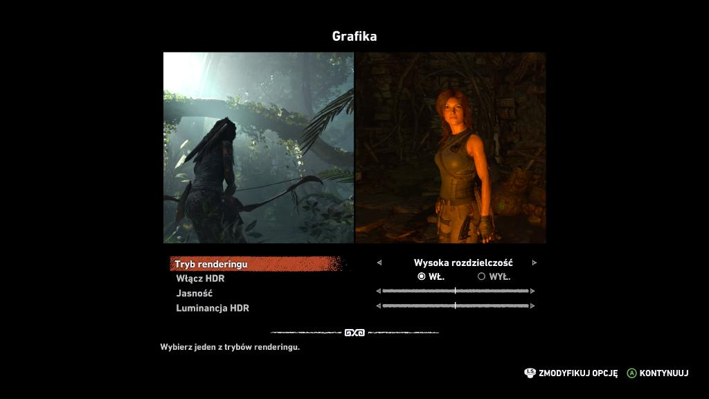 Test Tomb Raider 4K HDR Xbox One X konfiguracja 1