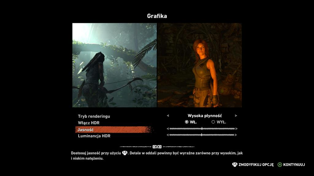 Test Tomb Raider 4K HDR Xbox One X konfiguracja 3