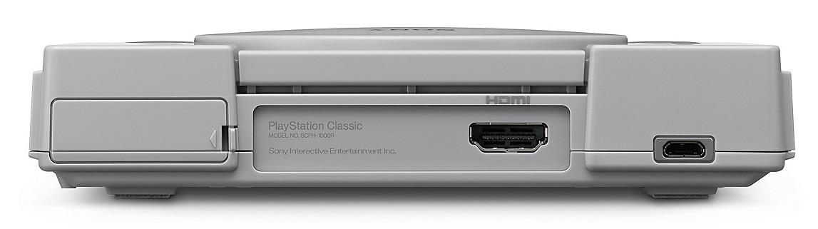 premiera PlayStation Classic PSX mini back tył