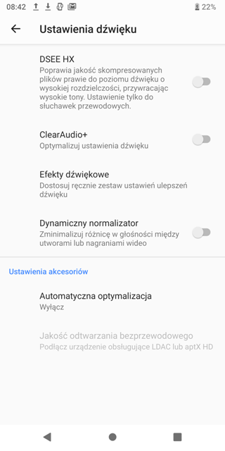Xperia XZ3 test audio