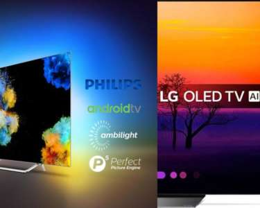 LG OLED B8 kontra Philips OLED POS9002 porównanie najtańszych OLED na rynku