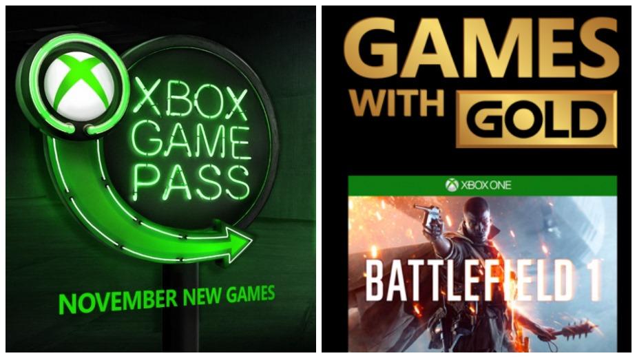 Listopad: nowe tytuły w Games with Gold i Xbox Game Pass