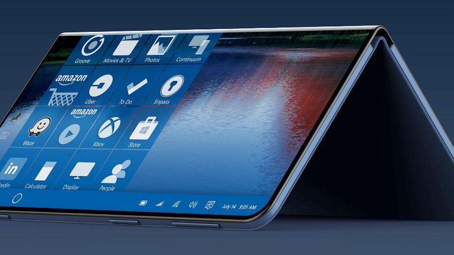 Dwuekranowy, składany tablet 2w1 Microsoft w 2019