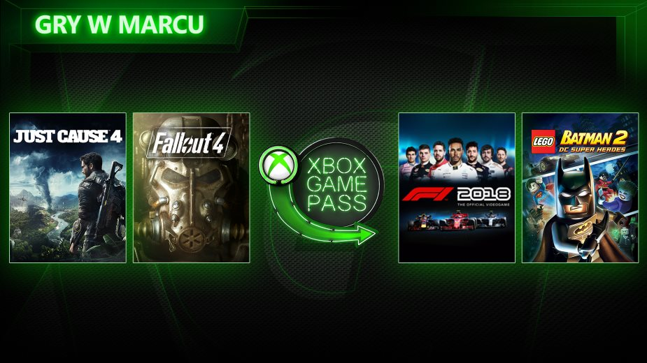 Just Cause 4, F1 2018 i Fallout 4 w Xbox Game Pass