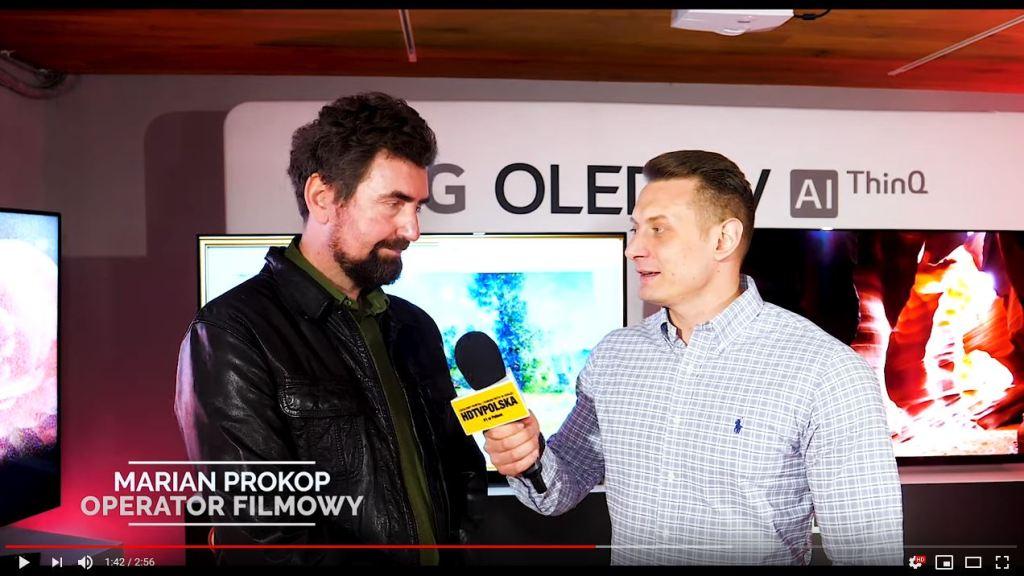 Premiera LG OLED TV 2019 wywiad Marian Prokop