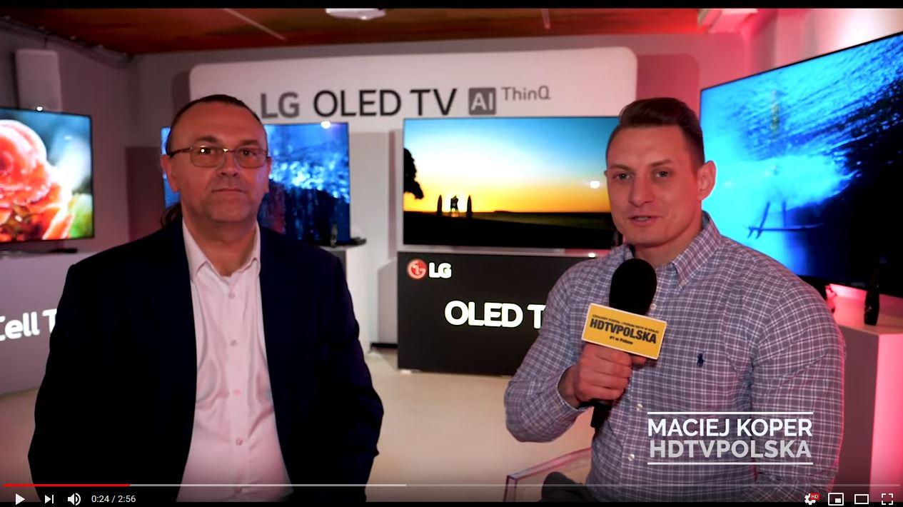 Premiera LG OLED TV 2019 wywiad Wiesław Kowalczyk