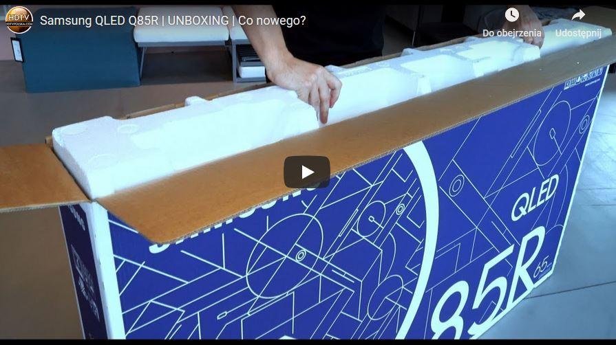 Samsung QLED Q85R unboxing