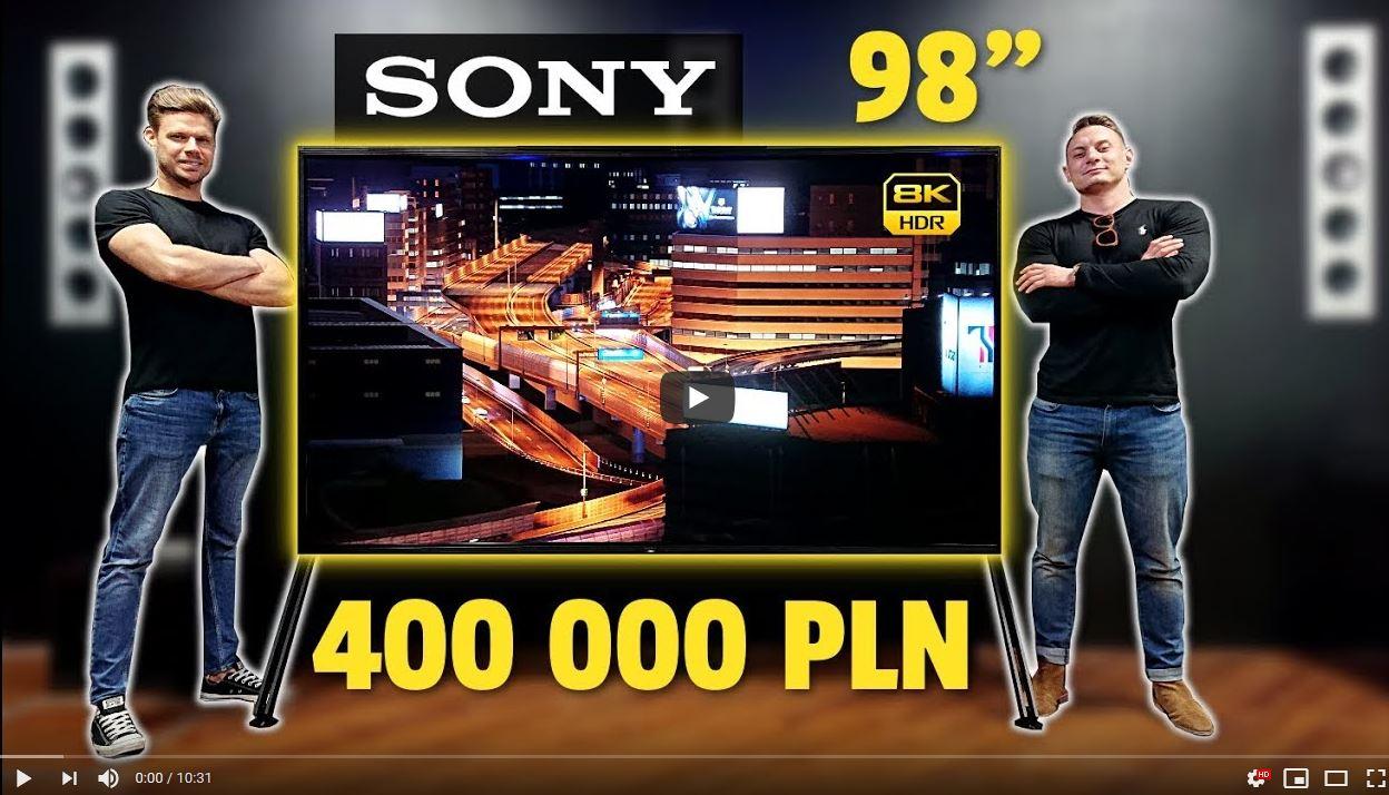 Test Sony ZG8 8K HDR telewizor przyszłości