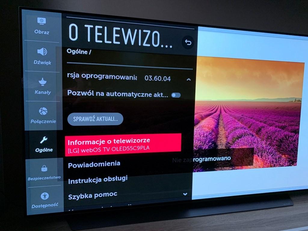 Test LG OLED C9 2019 rok