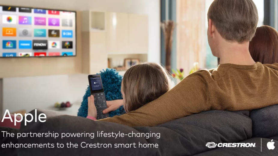 Multimedialny pilot Crestron TSR-310 obsługuje Apple TV, Siri, HomeKit