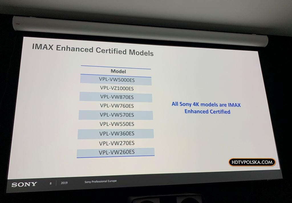 IMAX Enhanced Sony Bravia projektory 3