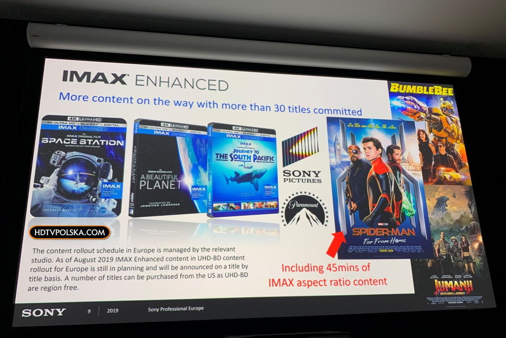 IMAX Enhanced Sony Bravia projektory