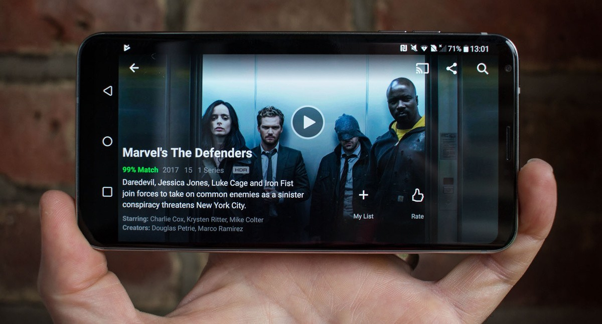 Netflix smartfon hdr