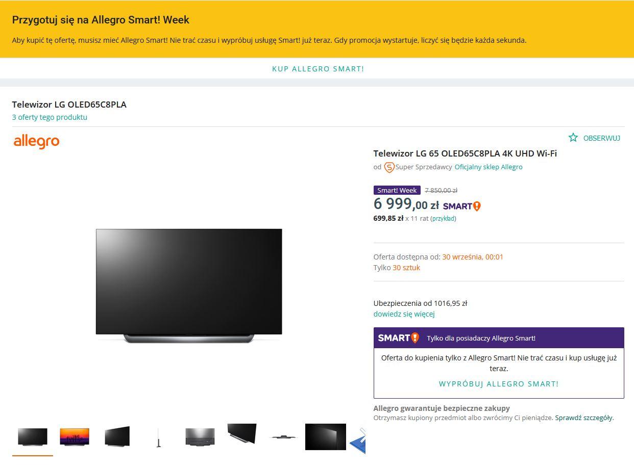 Promocja LG OLED C8 Allegro