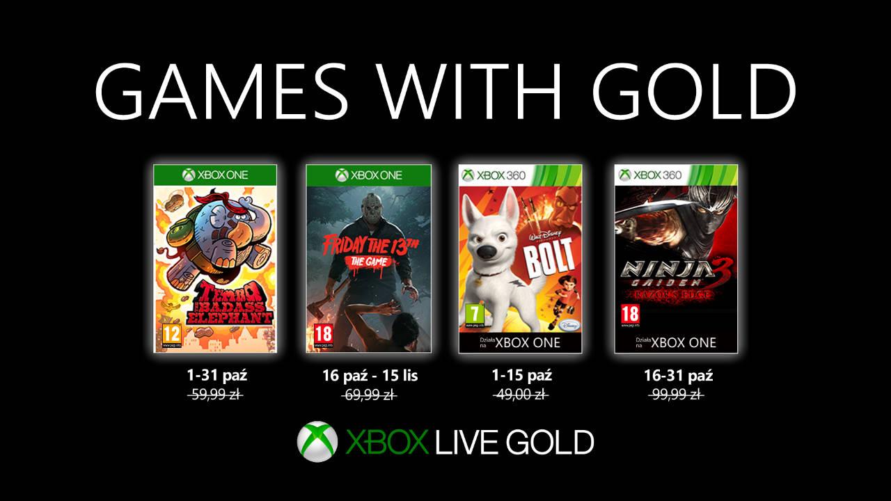 Games with Gold październik 2019