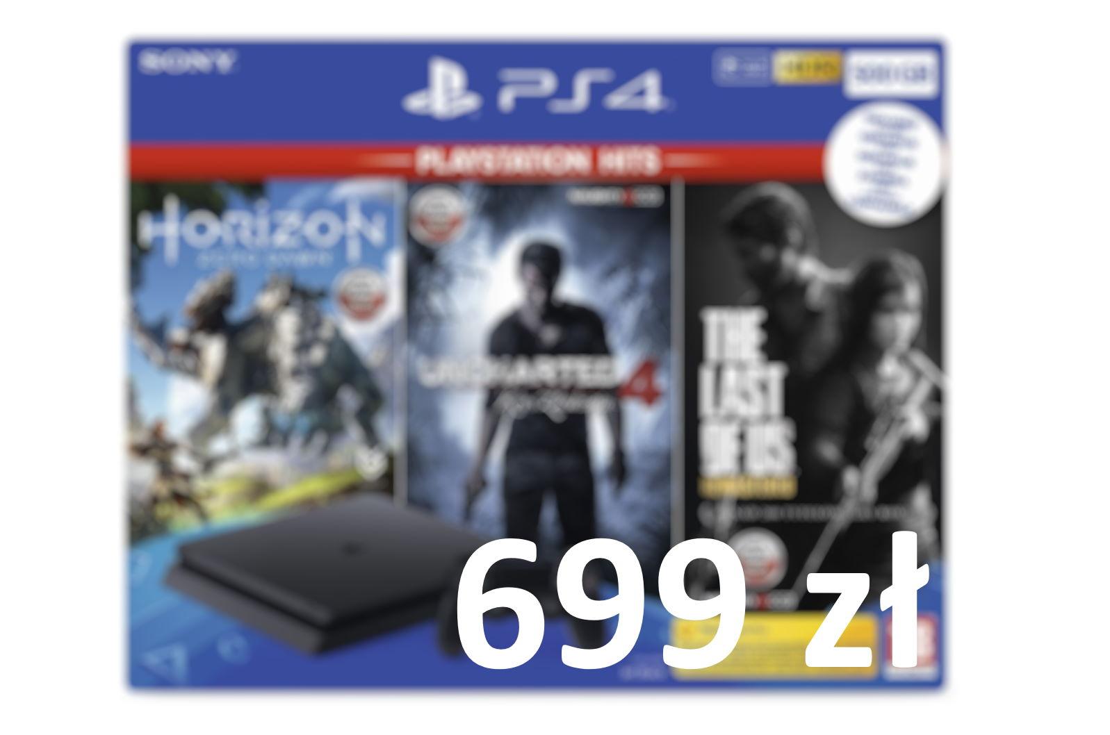 PlayStation 4 + 3 gry za 699zł w Allegro Smart! Week