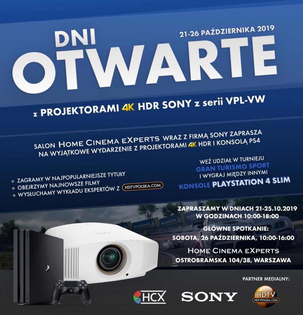 Dni Otwarte z projektorami Sony w Warszawie. Wygraj konsolę PS4!