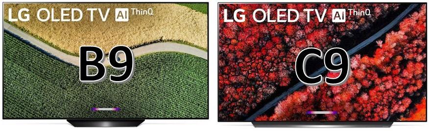 LG OLED B9 LG OLED C9 porównanie
