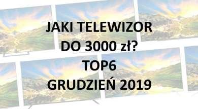 Jaki telewizor do 3000 zł TOP6 polecanych modeli grudzień 2019