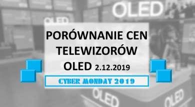 Porównanie cen telewizorów OLED 2 grudzień 2019