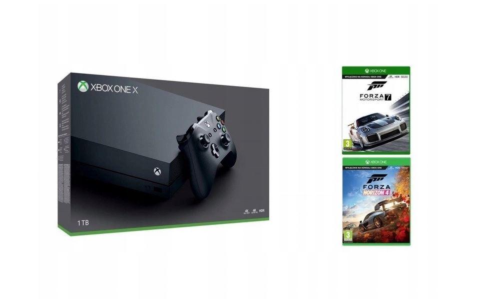 Xbox One X 1TB (Ultra HD Blu-ray) + Forza Horizon 4, Forza 7 za 1349 zł!