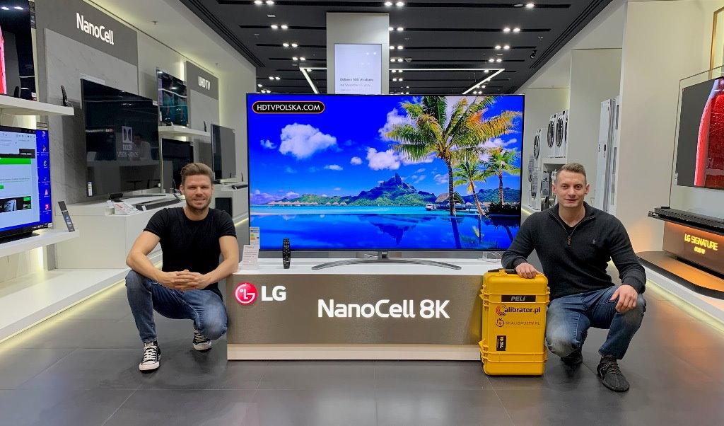 Test LG LCD NanoCell 8K SM9900 Brand Store LG Warszawa