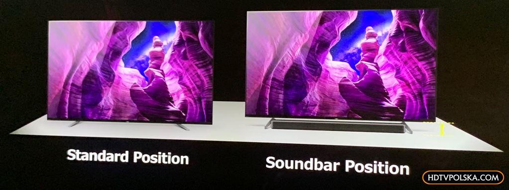 Nowe telewizory Sony OLED A8 dźwięk lepszy 2