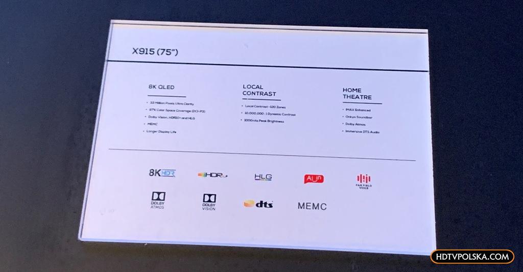 Telewizor TCL X91 8K QLED CES2020 3