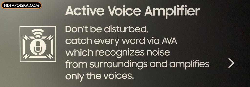 Active Voice Amplifier Samsung forum 2020 QLED
