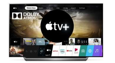 Apple TV iTunes dostępne na LG OLED LCD NanoCell 2019 2020 Dolby Atmos