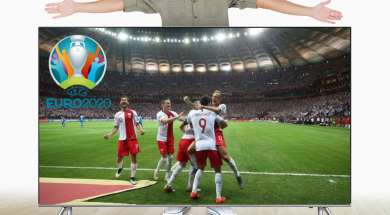 Gigantyczny duży telewizor w promocji na euro2020