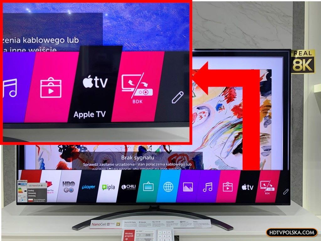 Test aplikacja apple tv telewizor lg oled nanocell