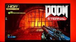 Jak skalibrować DOOM Eternal na telewizorze Ultra HD z HDR?