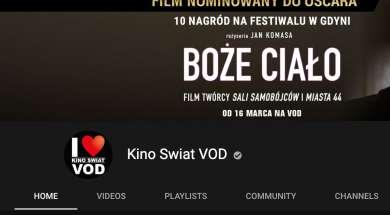 Kino Świat YouTube filmy seriale