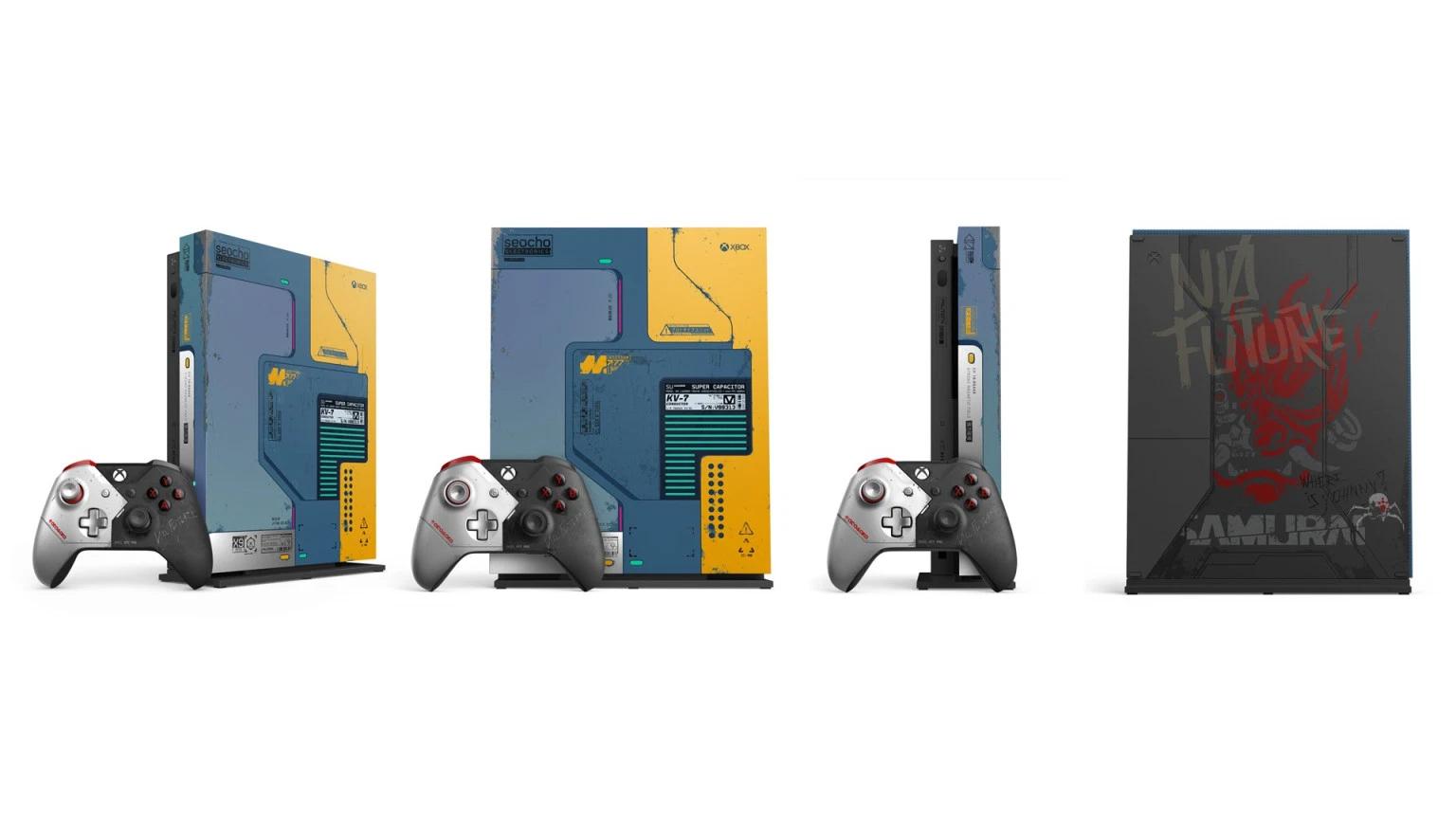 """Microsoft wyda Xbox One X w limitowanej edycji """"Cyberpunk 2077"""".Design zachwyca!"""