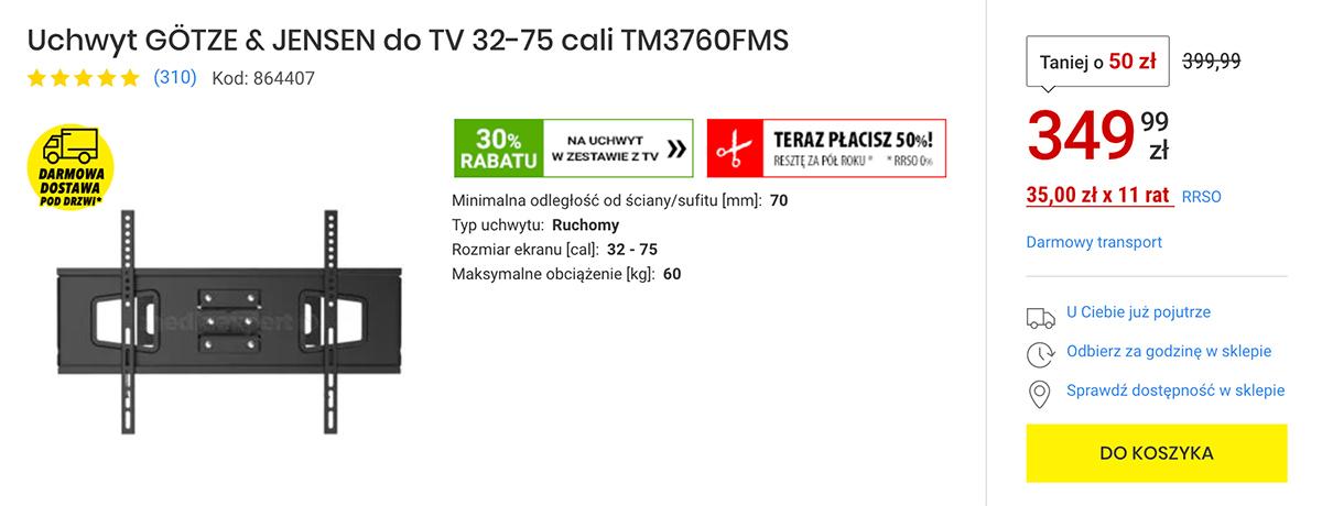 Świetna okazja do zakupu telewizora jednego z czołowych producentów - w Media Expert uchwyt 30% taniej!