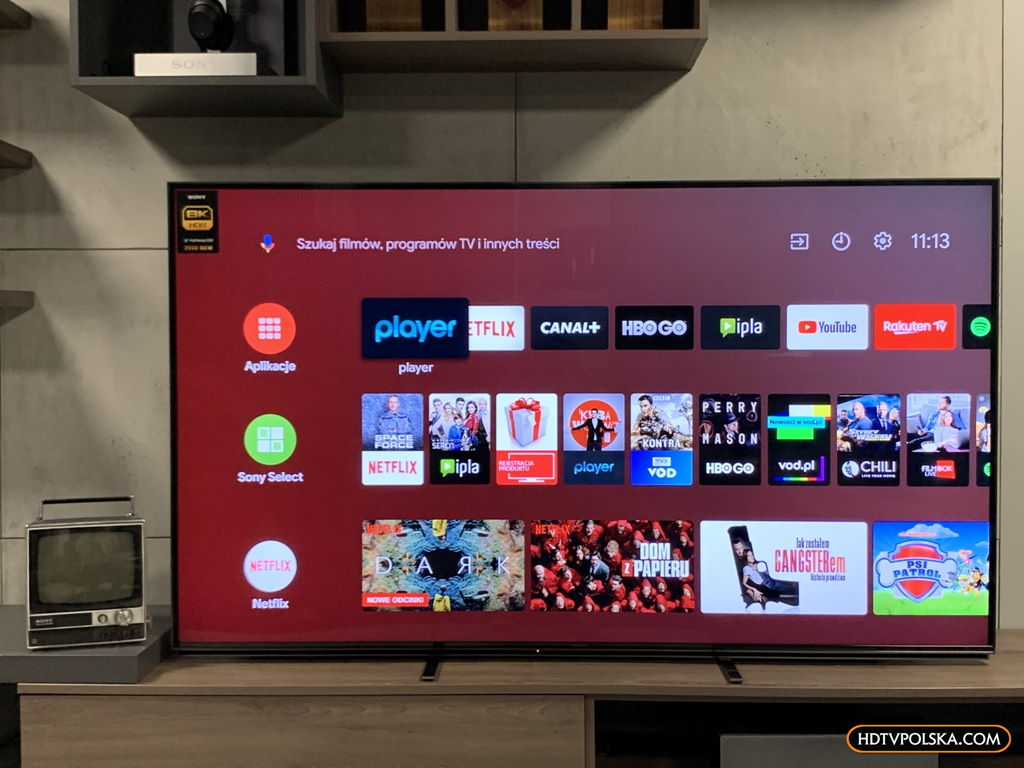 Fachowy test Sony ZH8 8K HDMI 2.1 Android TV